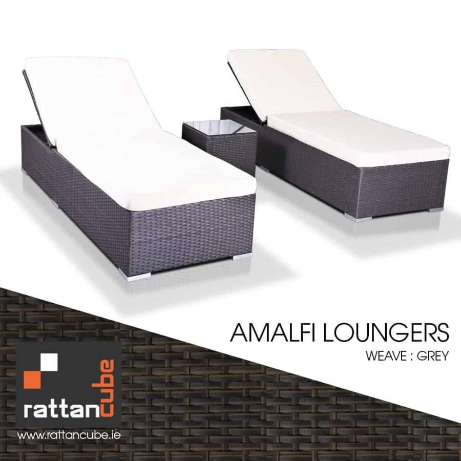 Amalfi sun Loungers in grey
