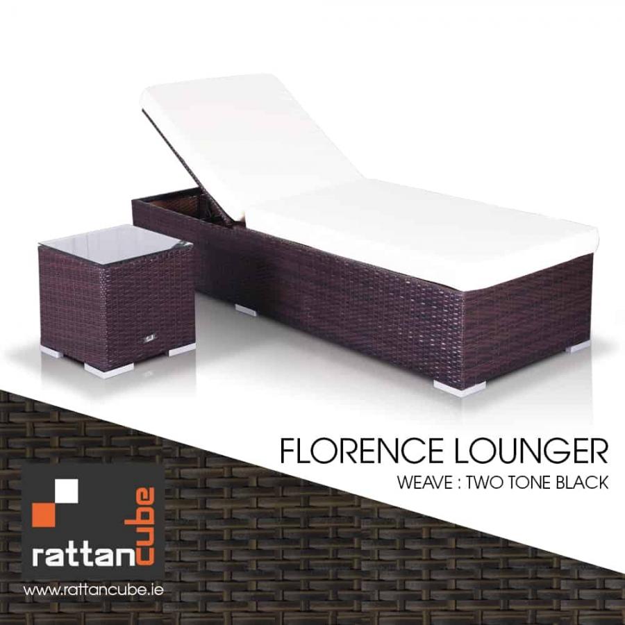 rattan florence sun lounger