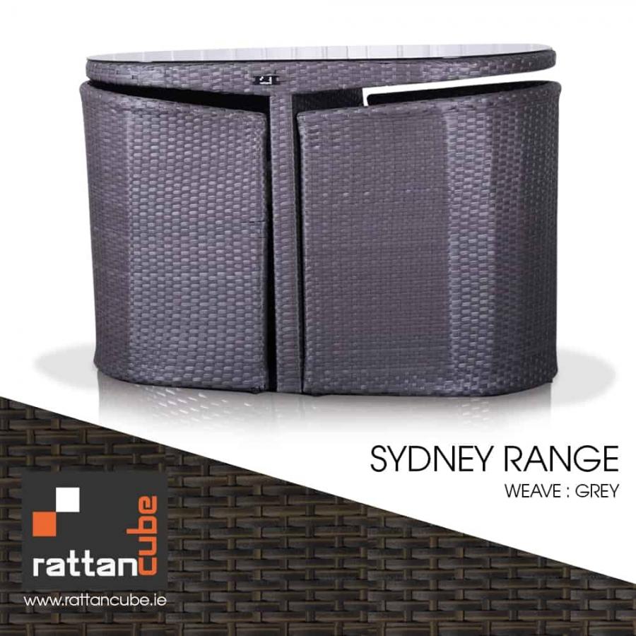 sydney grey rattan furniture set