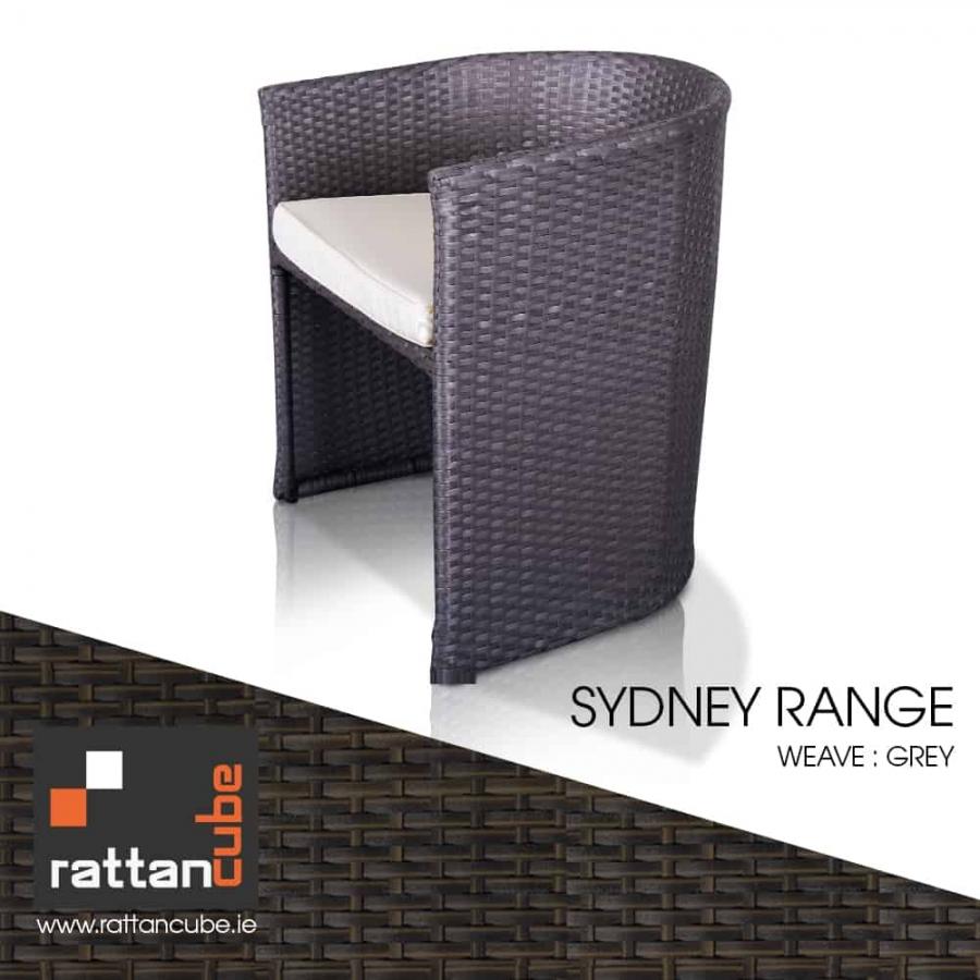 sydney grey rattan furniture seat