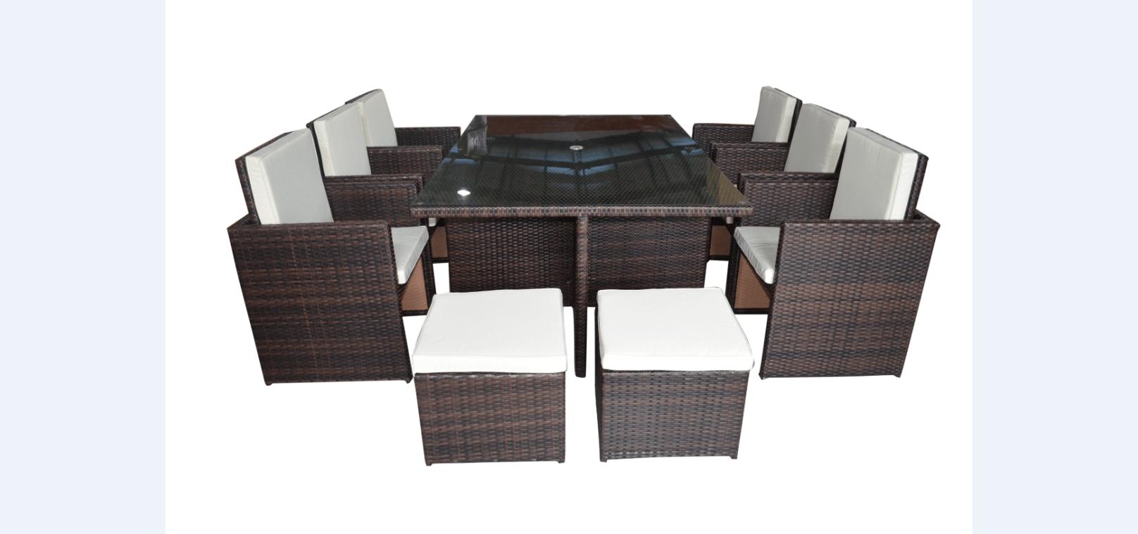 12 Seater Rattan Garden Furniture Set   Marbella Range