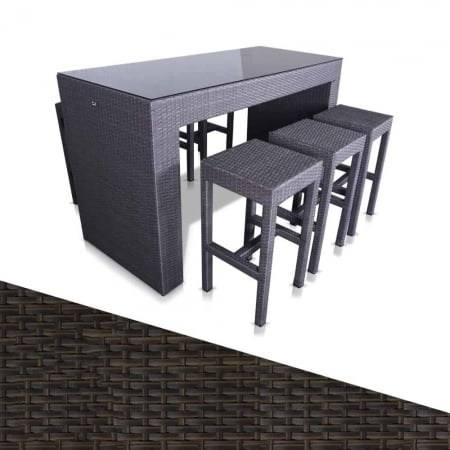 Budapest Outdoor Bar Two Tone Black