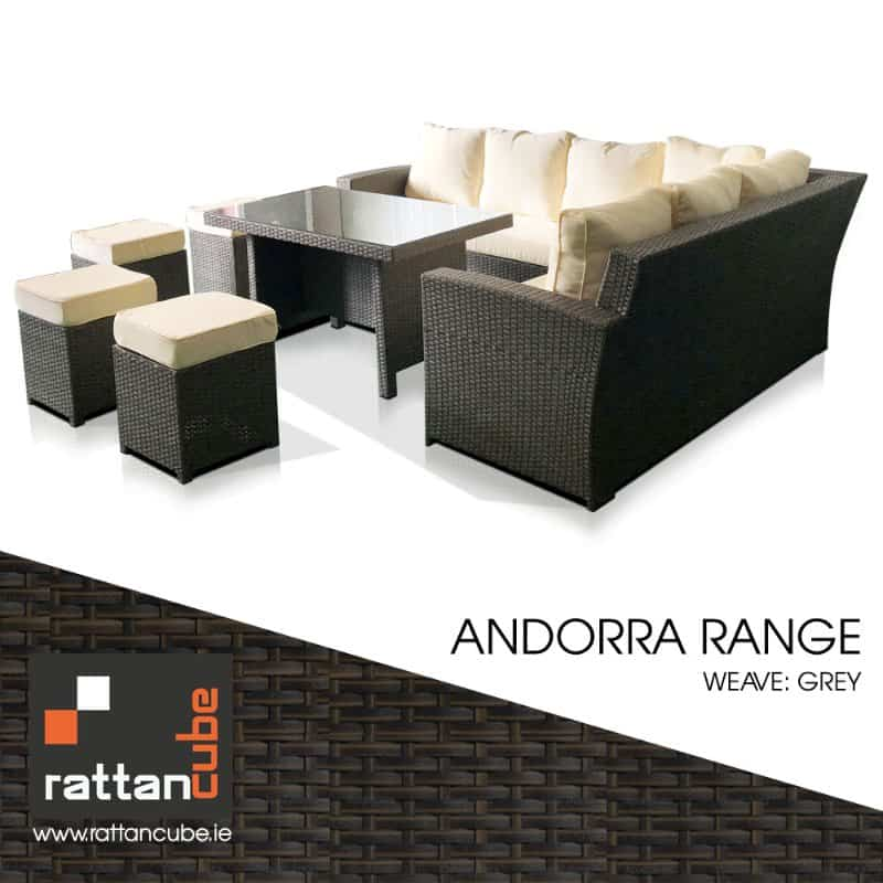 andorra grey rattan furniture set