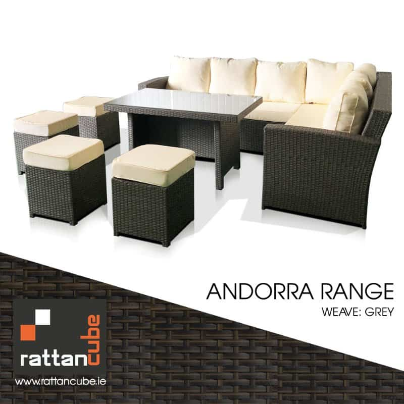Andorra Rattan Corner Sofa 10 Seater Garden Furniture