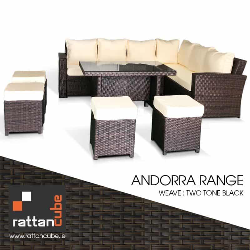 rattan garden furniture andorra range
