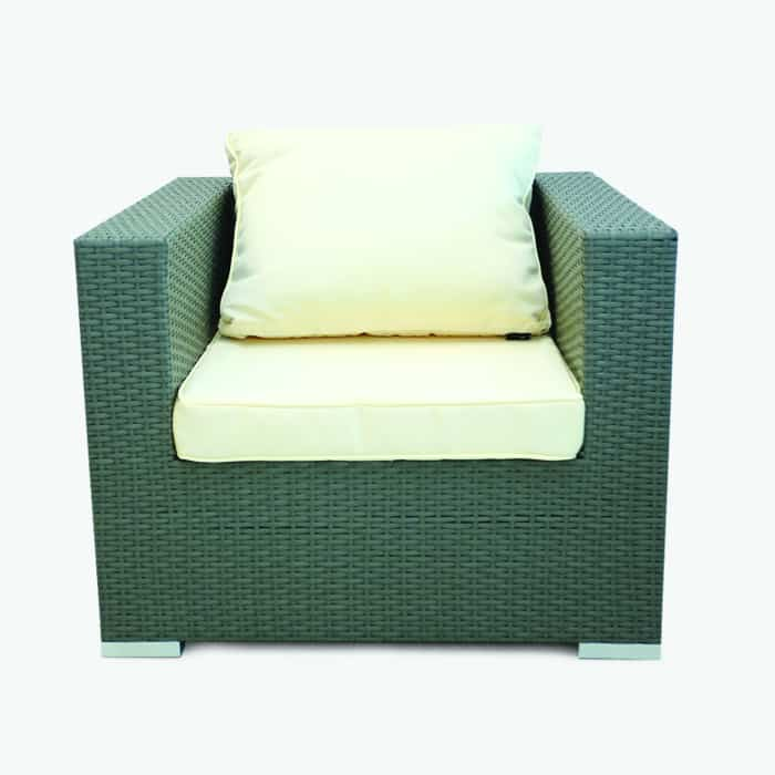 rattan cube chair with cushion
