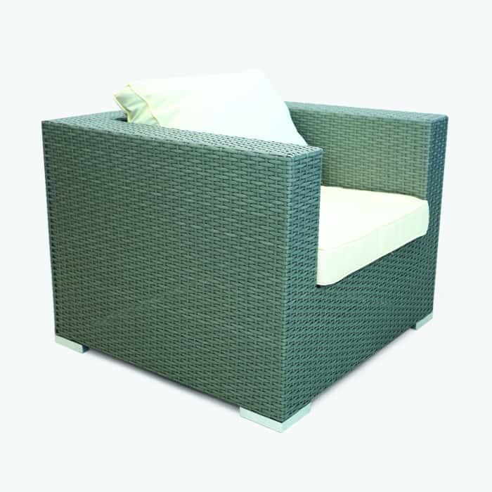 rattan cube chair